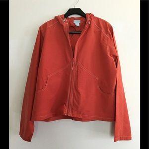 Vintage Orange cotton sailing jacket by Bass XL